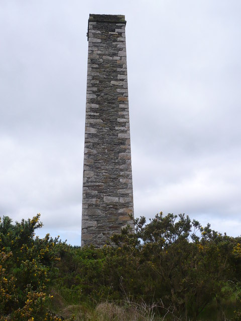 Chimney at the Cornelly lead mine