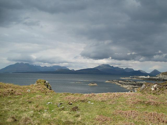 Changeable weather on the Sleat coast