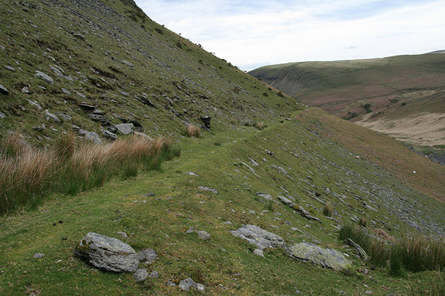 Old mine road, valley of the Rhiwnant