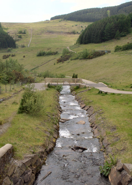 The Afon Garw just to the north of Blaengarw