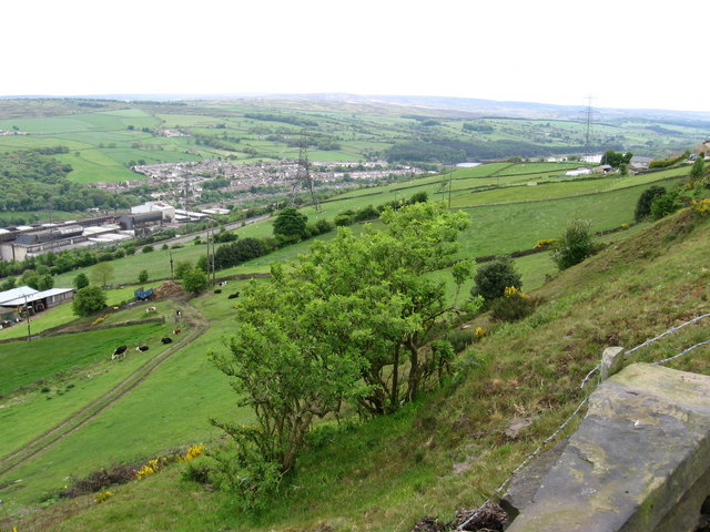 Stocksbridge - view from above Cote House Farm