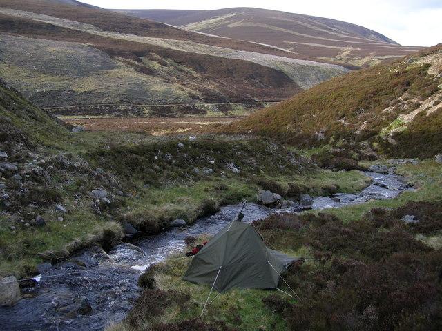Camp in Glen Gairn