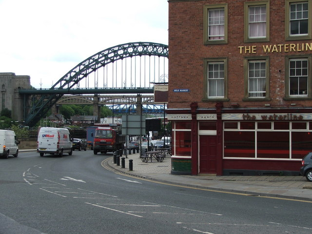 The Waterline and Tyne Bridge