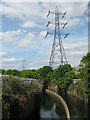 TQ3590 : Lee Valley power line by Stephen Craven