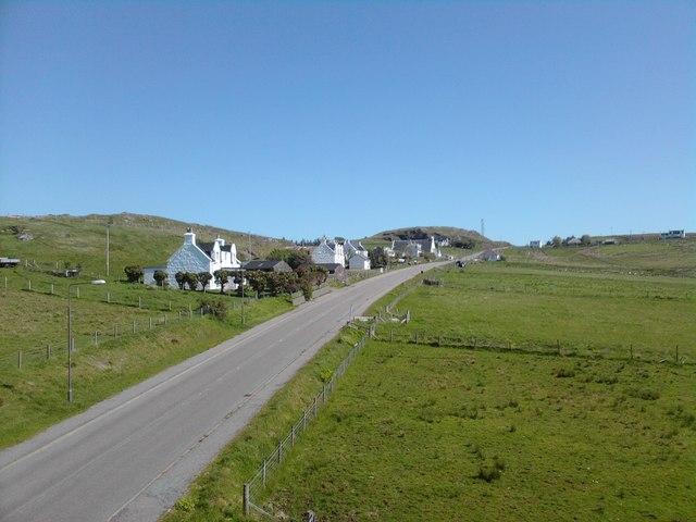 Main road through Garafad ,Staffin.
