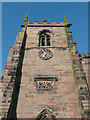 SJ6543 : St James's Church tower, Audlem, Cheshire by Roger  Kidd