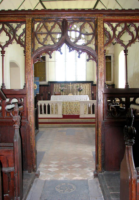St Peter's Church - rood screen detail