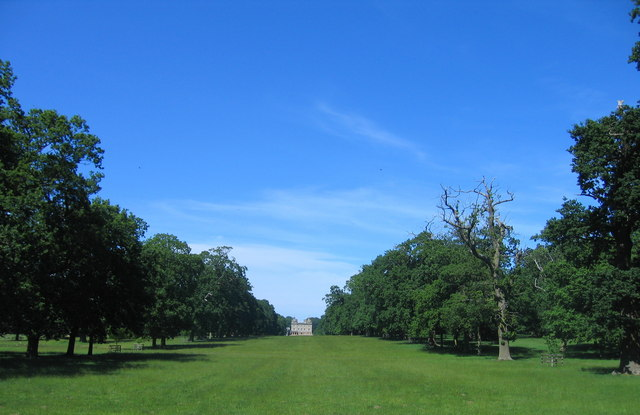 Houghton Hall north along South View