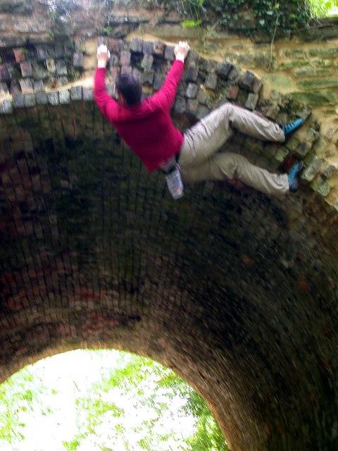 Climbing Trafalgar Arch, Forest of Dean
