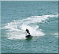 TQ3103 : Jet ski near Palace Pier, Brighton by David Hawgood