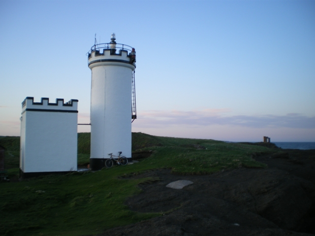 Evening light on Elie Ness lighthouse