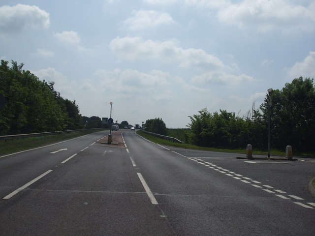 A17 junction with the B6403 at Byard's Leap