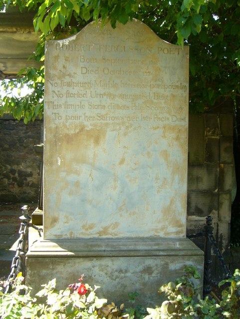 Robert Fergusson's gravestone