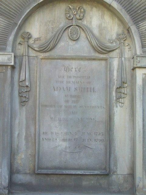 Adam Smith's grave, Canongate Kirkyard
