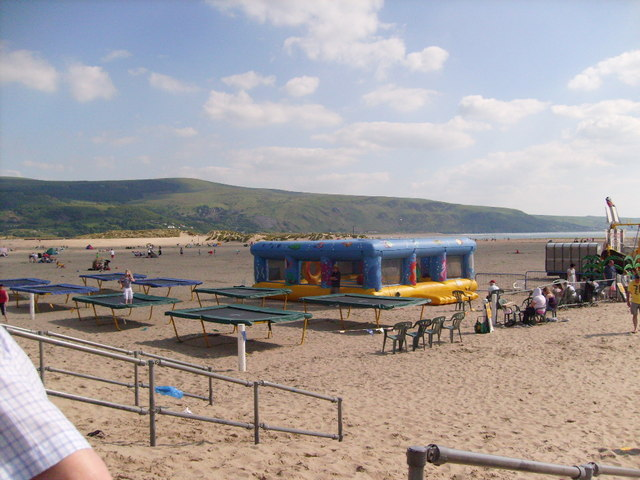 Activities on the beach at Barmouth, Gwynedd
