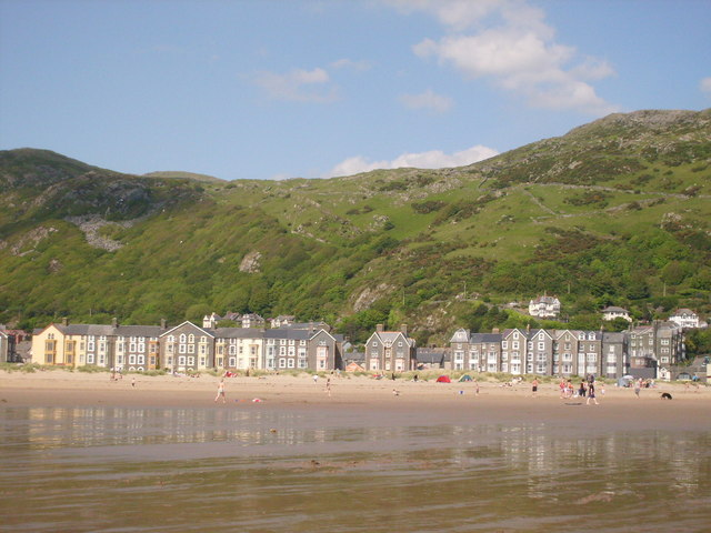 The view from the beach, Barmouth, Gwynedd