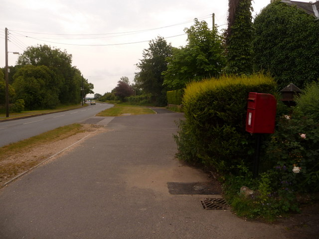 West Parley: postbox &#8470; BH22 107, Christchurch Road