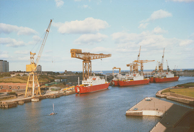Ships on the River Wear at Sunderland