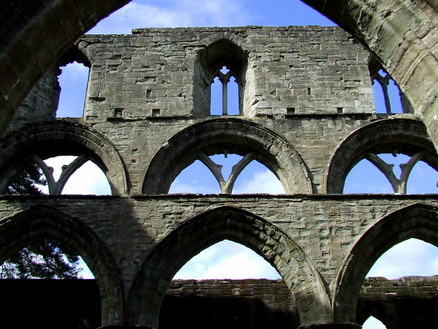 Arches in the nave, Dunkeld Cathedral
