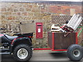 SY4493 : Symondsbury: postbox № DT6 2 by Chris Downer