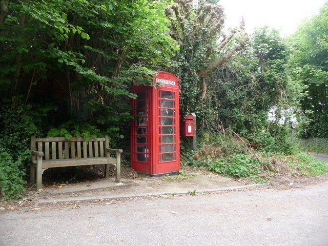 Watton: postbox № DT6 63 and phone