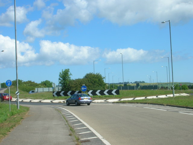 Roundabout on the A64