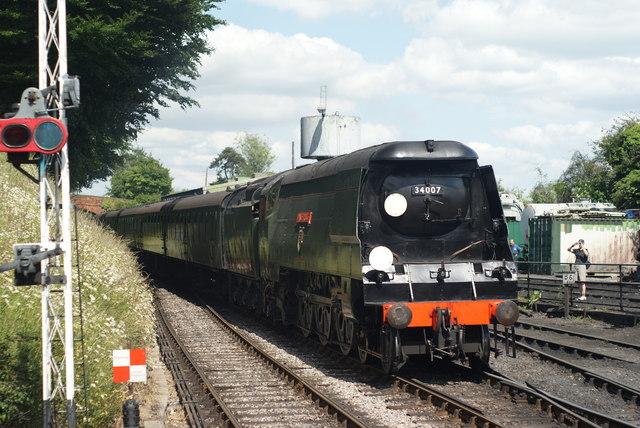 "Steam loco ""Wadebridge"" at Ropley"