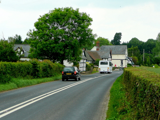 A438 approaching Letton