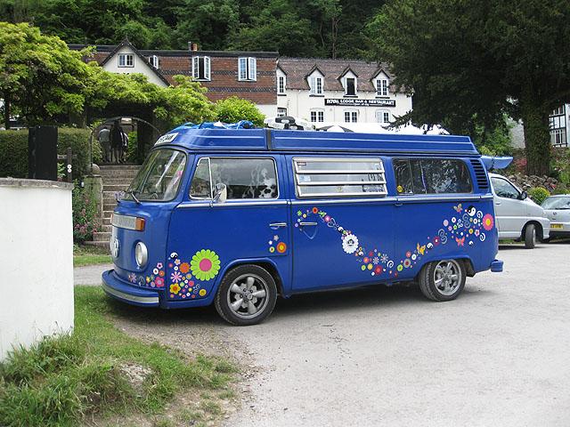 Flowery VW Camper