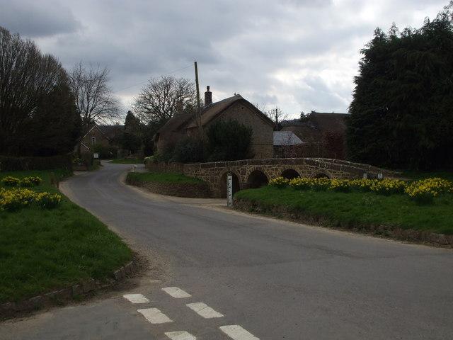 Dowlish Wake, the ford on the road to Cuddington