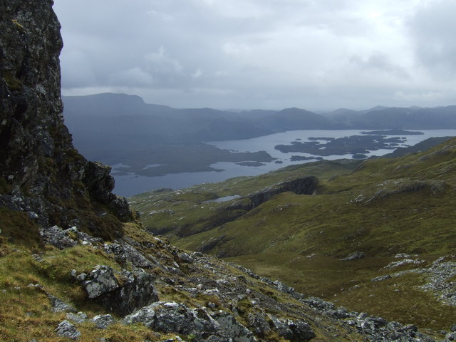 Leth Chreag looking towards Loch Maree