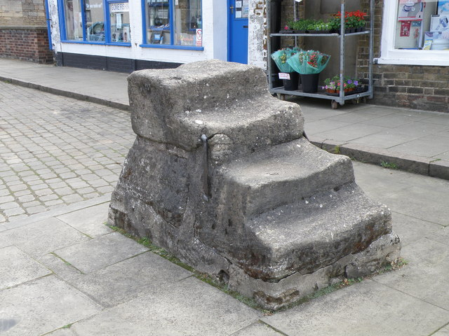 Mounting block adjacent to the Trinity Bridge, Crowland