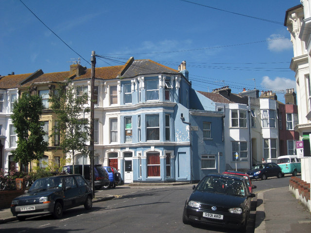 Terraced Houses on St Andrew's Square, Hastings