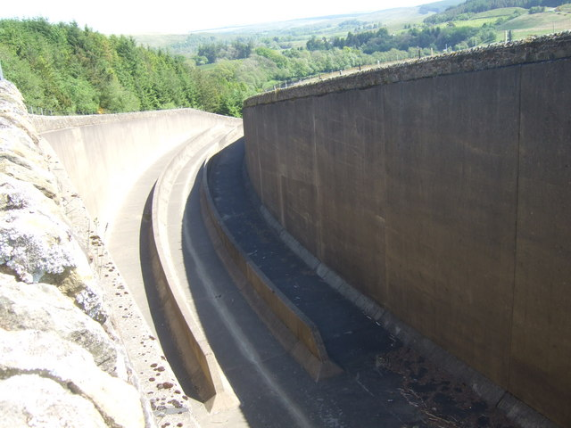 Spillway at Kielder Water Reservoir
