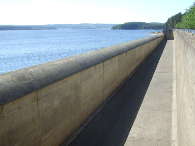Spillway at Kielder Dam