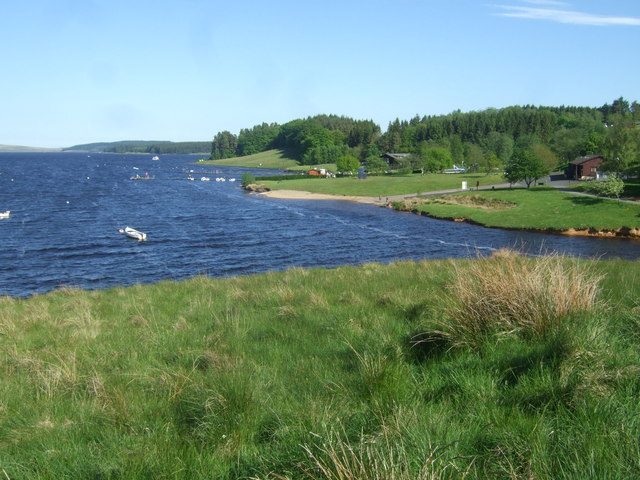 View from Lakeside Way over Kielder Water to Leaplish