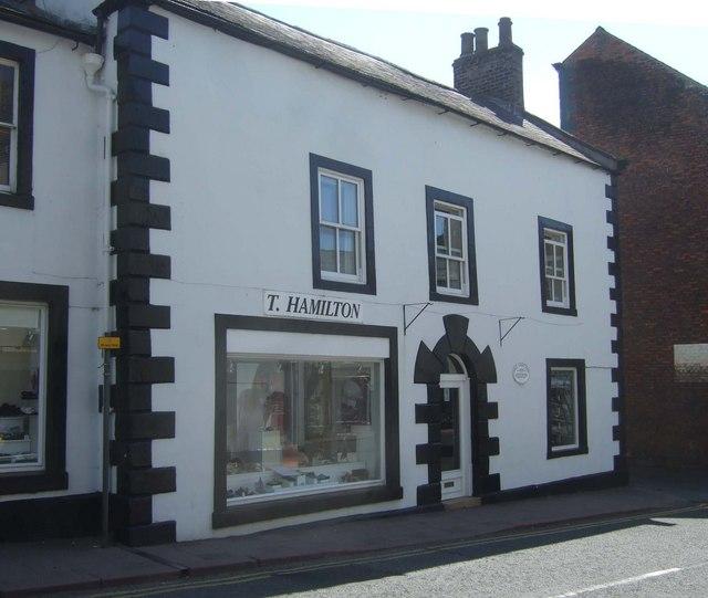 T Hamilton shoe shop