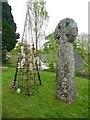 SX1268 : Cross in the churchyard, Cardinham by Humphrey Bolton