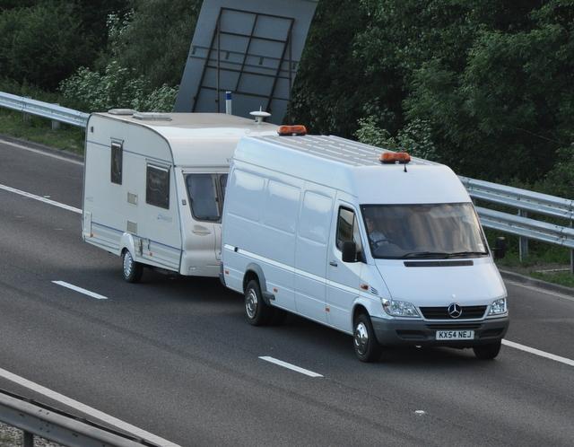 mercedes sprinter caravan on m42 john carver cc by sa. Black Bedroom Furniture Sets. Home Design Ideas