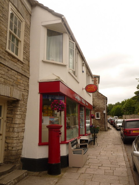 Langton Matravers: post office and postbox &#8470; BH19 76