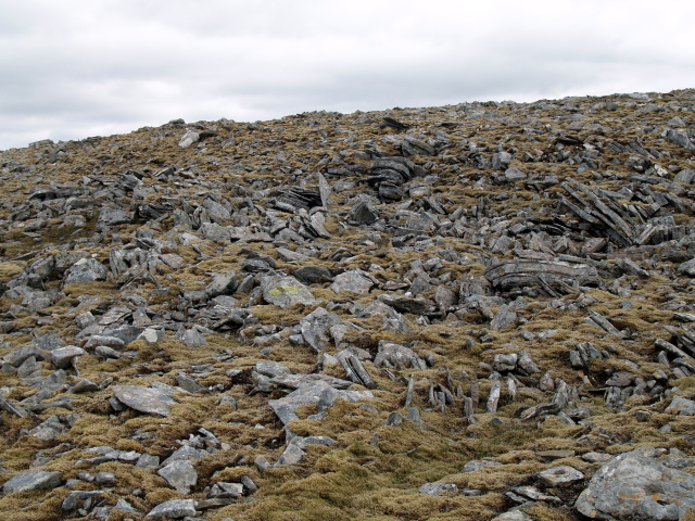 Boulder field below summit, An Sgarsoch