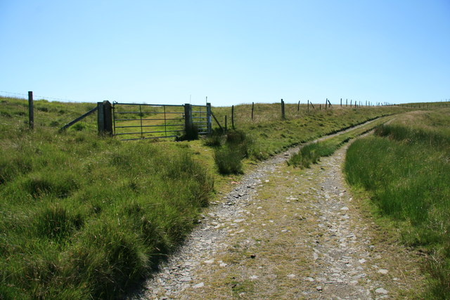 Moorland junction of trackways