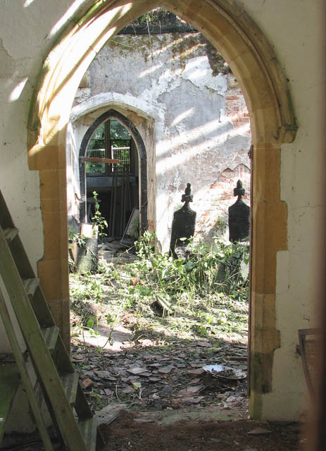 The church of St Wandregesilius - view through south doorway