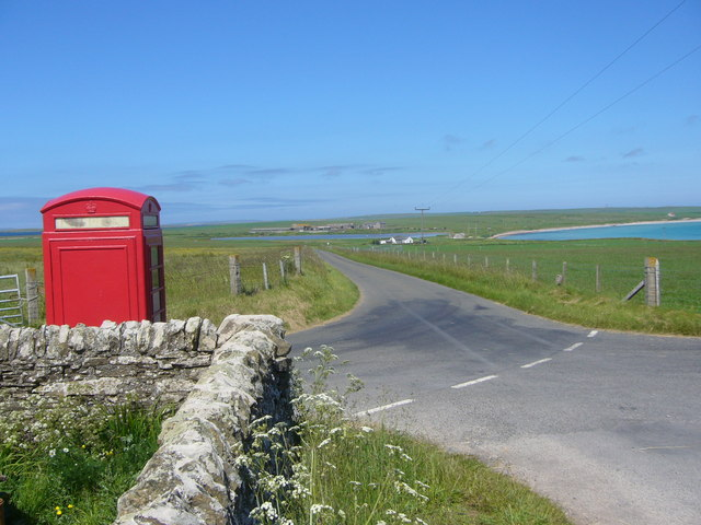 The B9061 at Rothiesholm on Stronsay