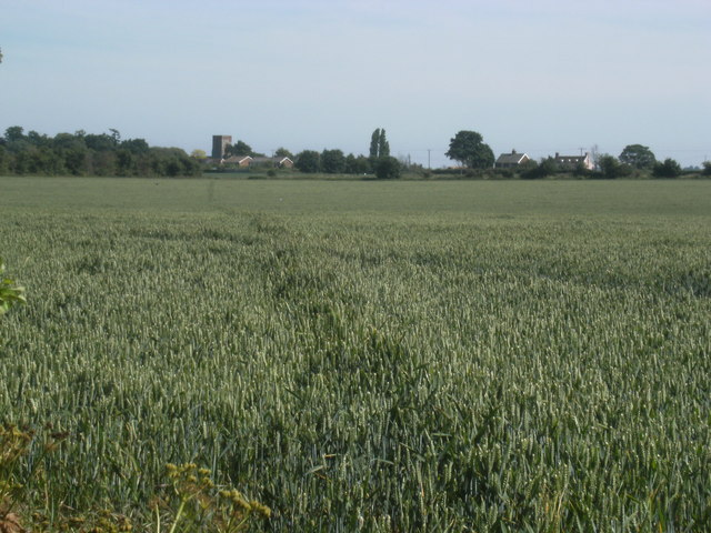 View over field to Erwarton
