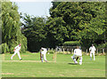 TL4832 : Cricket at Clavering: clean bowled by John Sutton