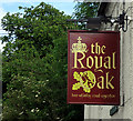 SP8360 : Royal Oak Inn Sign, 2009 by Gordon Cragg