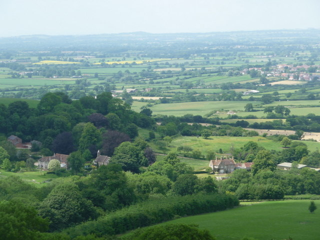 Stoke Wake: looking down on the village