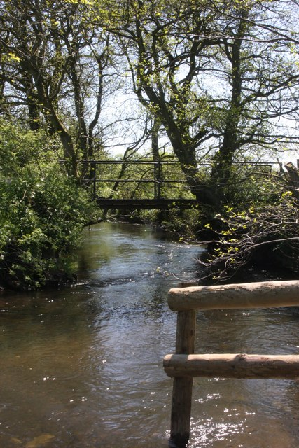 Footbridge over the River Dove (2)