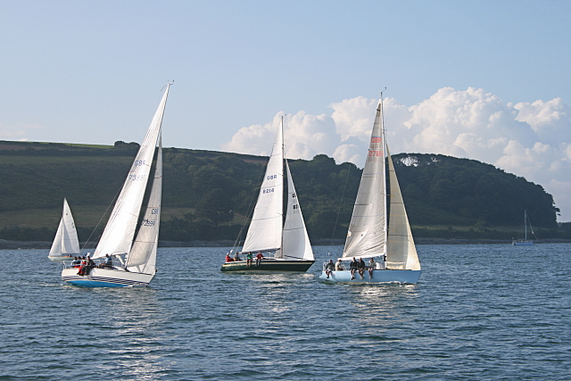 Yachts racing on Carrick Roads